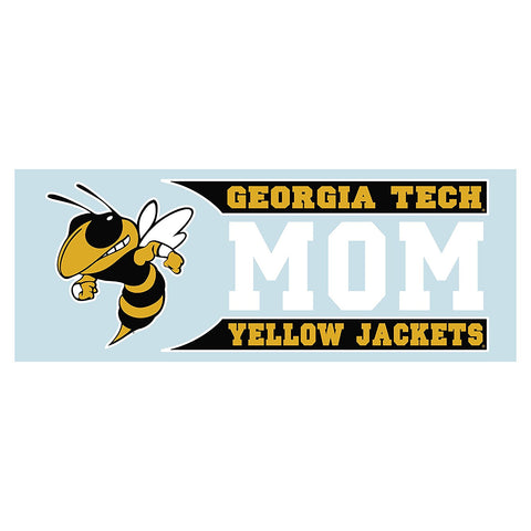 Georgia Tech Yellow Jackets GT Mom Decal Sticker 6""