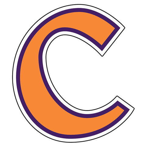 Clemson Tigers C Logo Decal Sticker 3""
