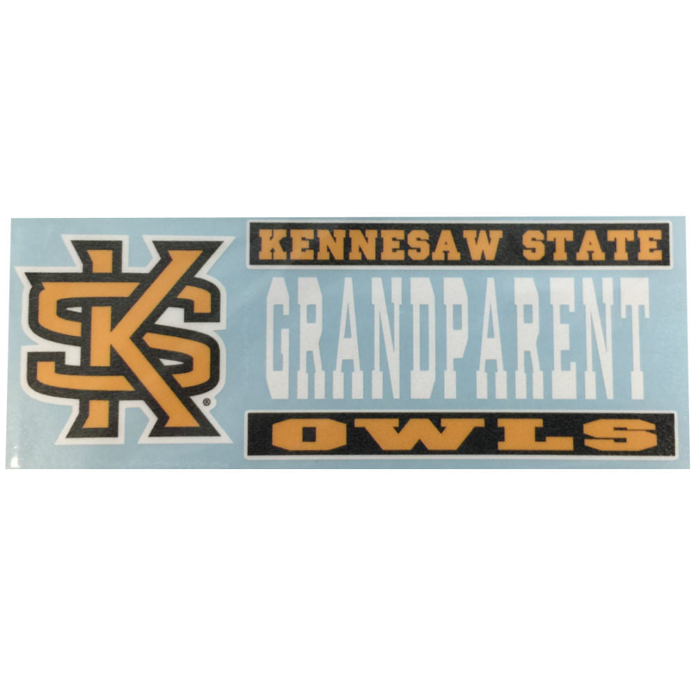 Kennesaw State Owls KSU Grandparent Decal Sticker 6""