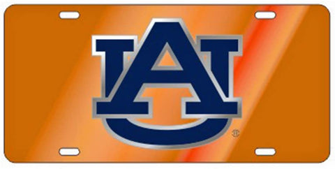 AU Tag Orange-Silver-Blue Logo License Plate