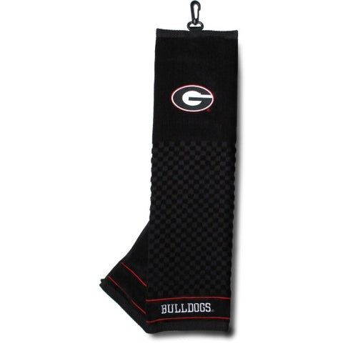 Georgia Bulldogs UGA Embroidered Premium Golf Towel