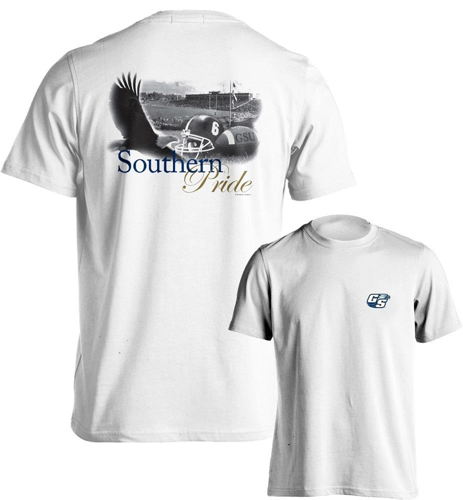 Georgia Southern University Eagles GSU Pride Short Sleeve White T-Shirt Multiple Sizes