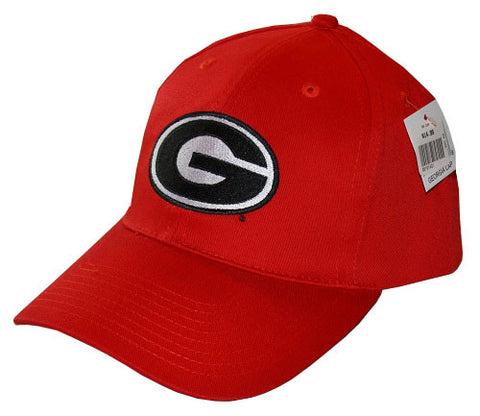 University Of Georgia Bulldogs UGA Super G Logo Red Baseball Cap Hat