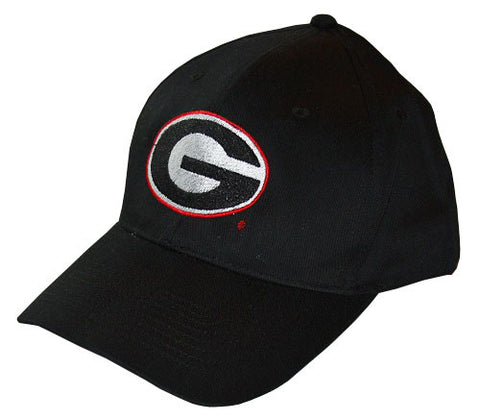 University Of Georgia Bulldogs UGA Super G Logo Black Baseball Cap Hat