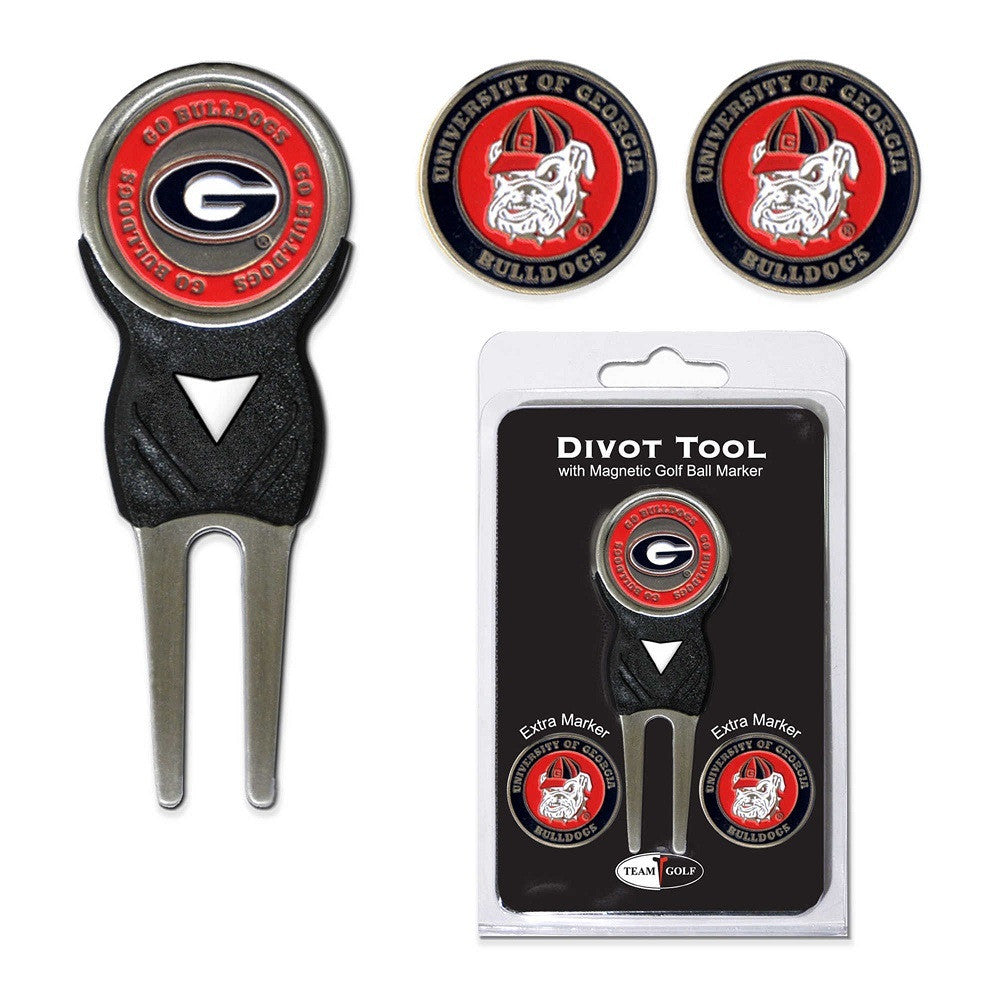 Georgia Bulldogs UGA Golf Divot Tool w/ Ball Marker