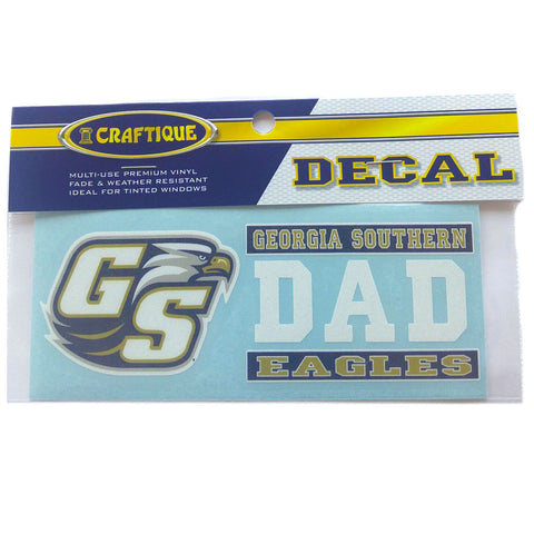 Georgia Southern Eagles Dad Decal 6""