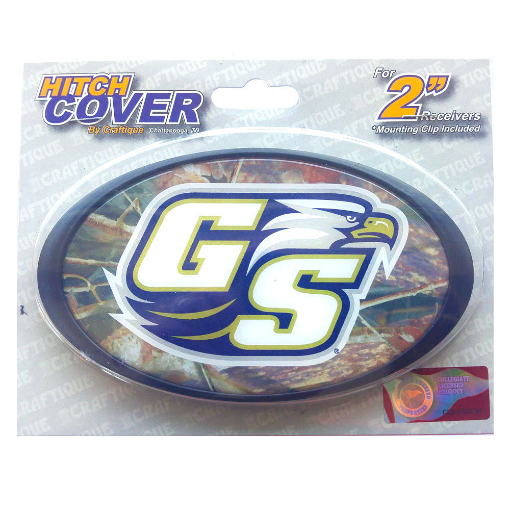 Georgia Southern Eagles Camo Oval Logo Domed Hitch Cover
