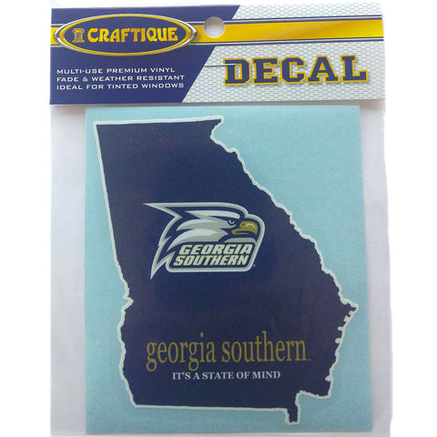 Georgia Southern Eagles State Decal 4""
