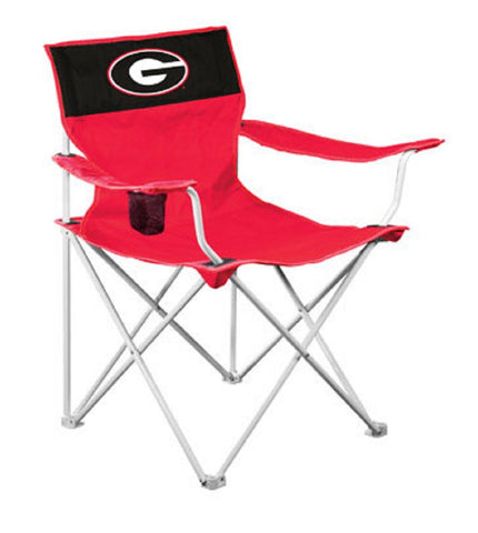 University of Georgia Bulldogs UGA Red & Black Canvas Chair