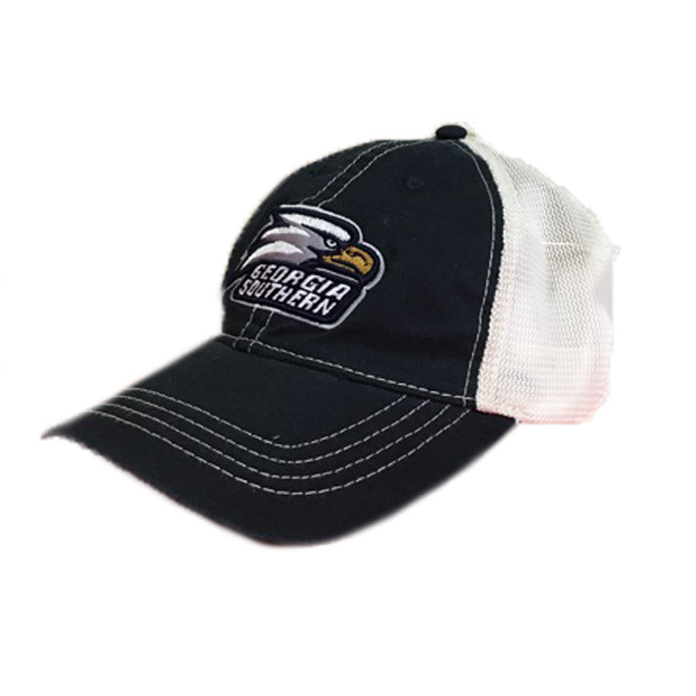 Georgia Southern Eagles GSU Unstructured Vintage Trucker Mesh Navy/Ivory Cap Hat