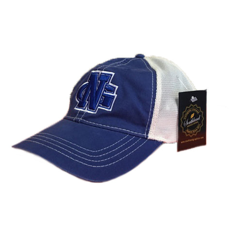 North Georgia Nightwawks UNG Unstructured Vintage Trucker Mesh Royal/Ivory Cap Hat