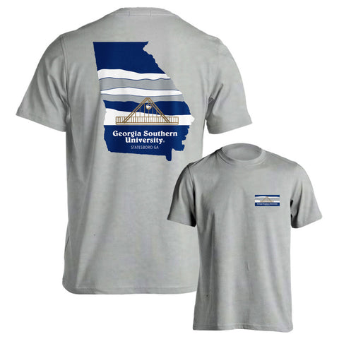 Georgia Southern University Eagles GSU Landscape Silver T-Shirt Multiple Sizes