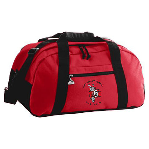 UGA Redcoat Band Embroidered Large Red Duffle Bag