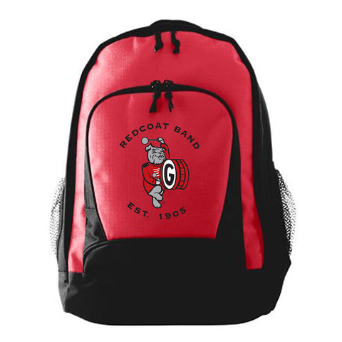 UGA Redcoat Band Embroidered Red Backpack