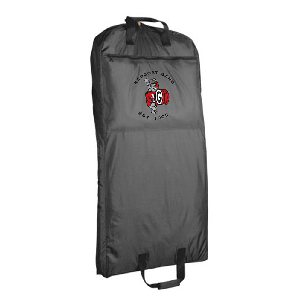 UGA Redcoat Band Embroidered Black Nylon Garment Bag