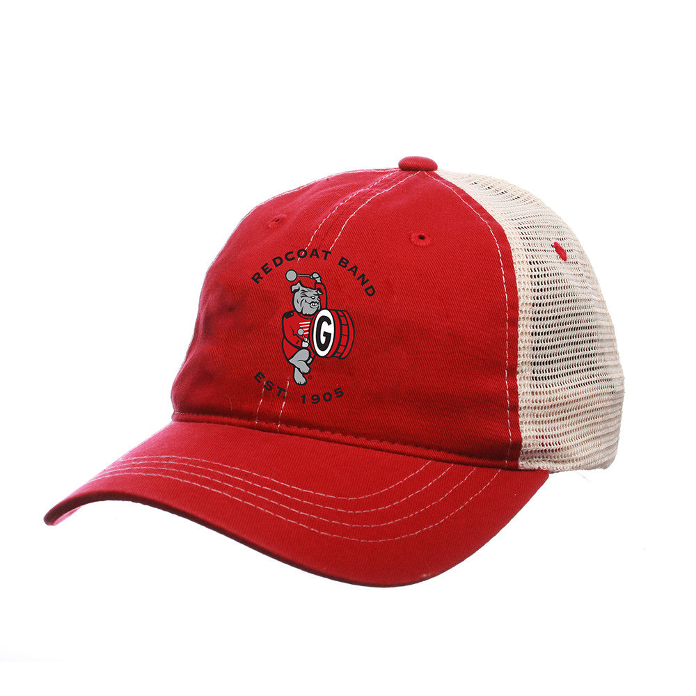 UGA Redcoat Band Red/Ivory Trucker Mesh Cap