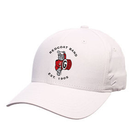 UGA Redcoat Band White Cotton Baseball Cap