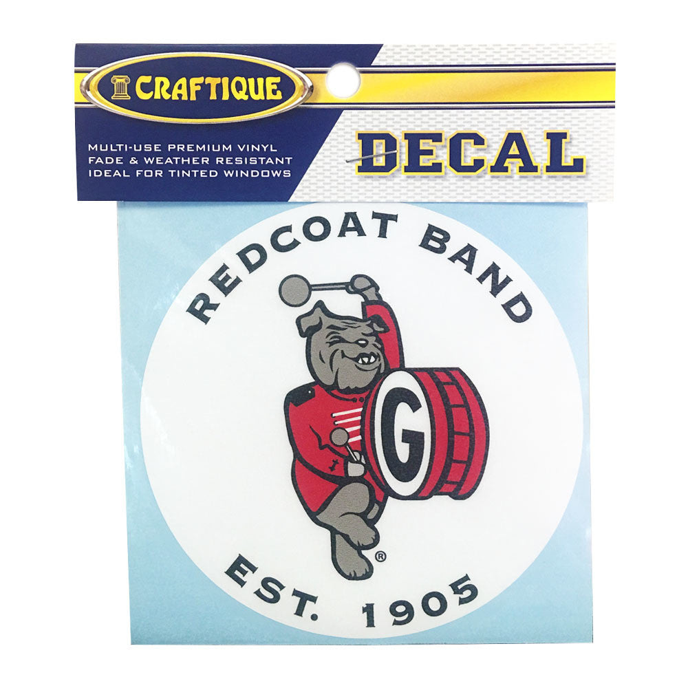 "UGA Redcoat Band 4"" Oval Decal"