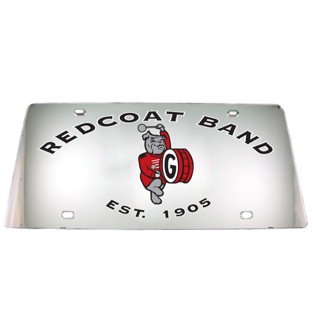 UGA Redcoat Band Mirror Car Tag License Plate