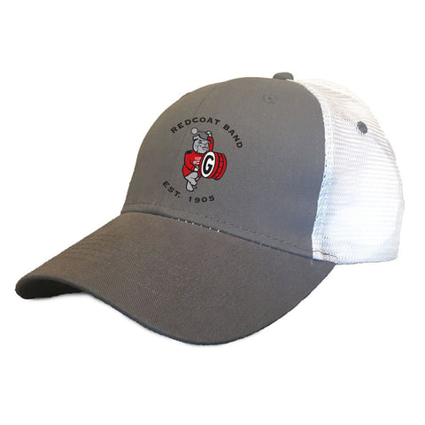 UGA Redcoat Band Hat Gray/White Trucker
