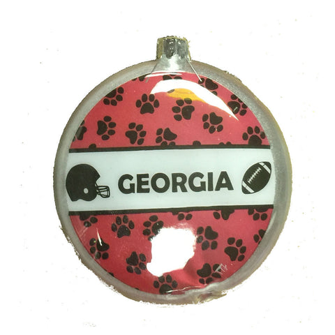 "Georgia Bulldogs 4"" 3D Flat Glass Christmas Tree Ornament Holiday"