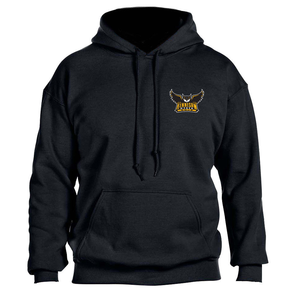 Kennesaw State University Owls KSU Owl Left Chest Black Hoodie Multiple Sizes