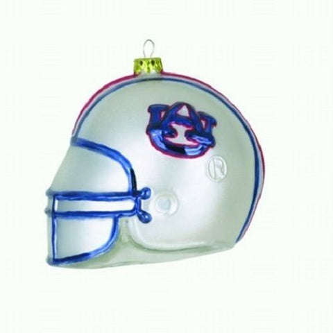 Auburn Tigers Glass Football Helmet Christmas Tree Ornament New In Box