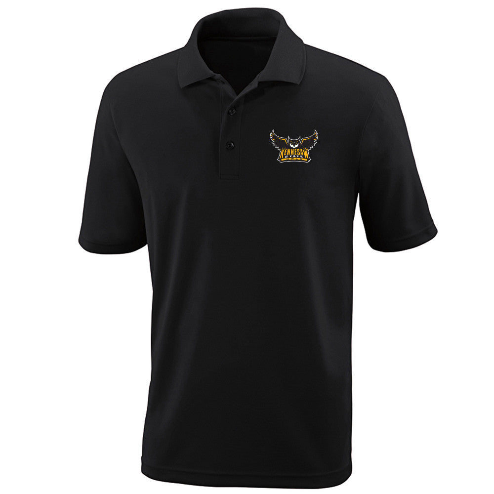 Kennesaw State University Owls KSU Owl Left Chest Black Polo Multiple Sizes
