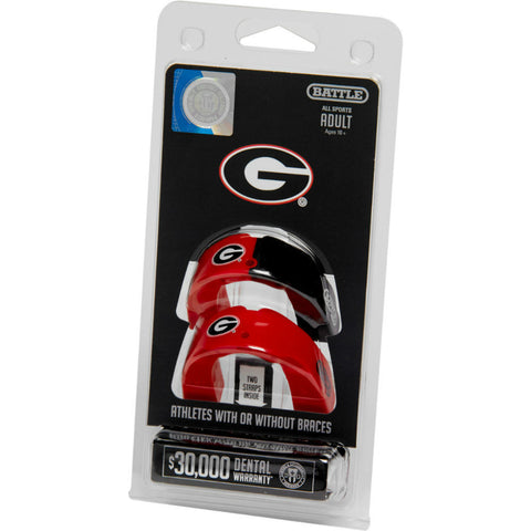 Georgia Bulldogs Battle NCAA 2 Pack Adult Mouthguard