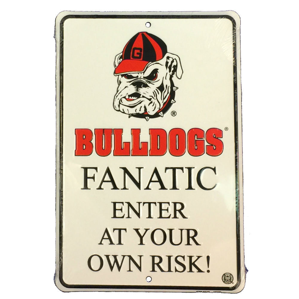 Georgia Bulldogs UGA Fanatic Enter At Your Own Risk Sign!