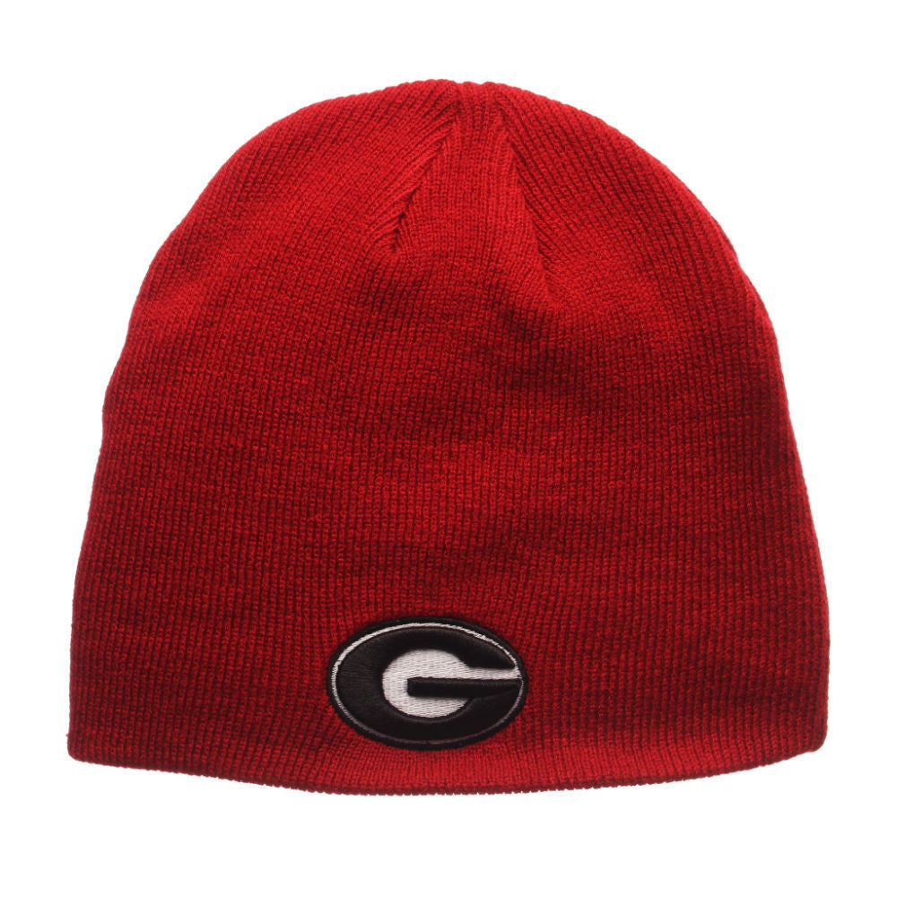 Georgia Bulldogs UGA Zephyr NCAA Edge Knit Red Beanie