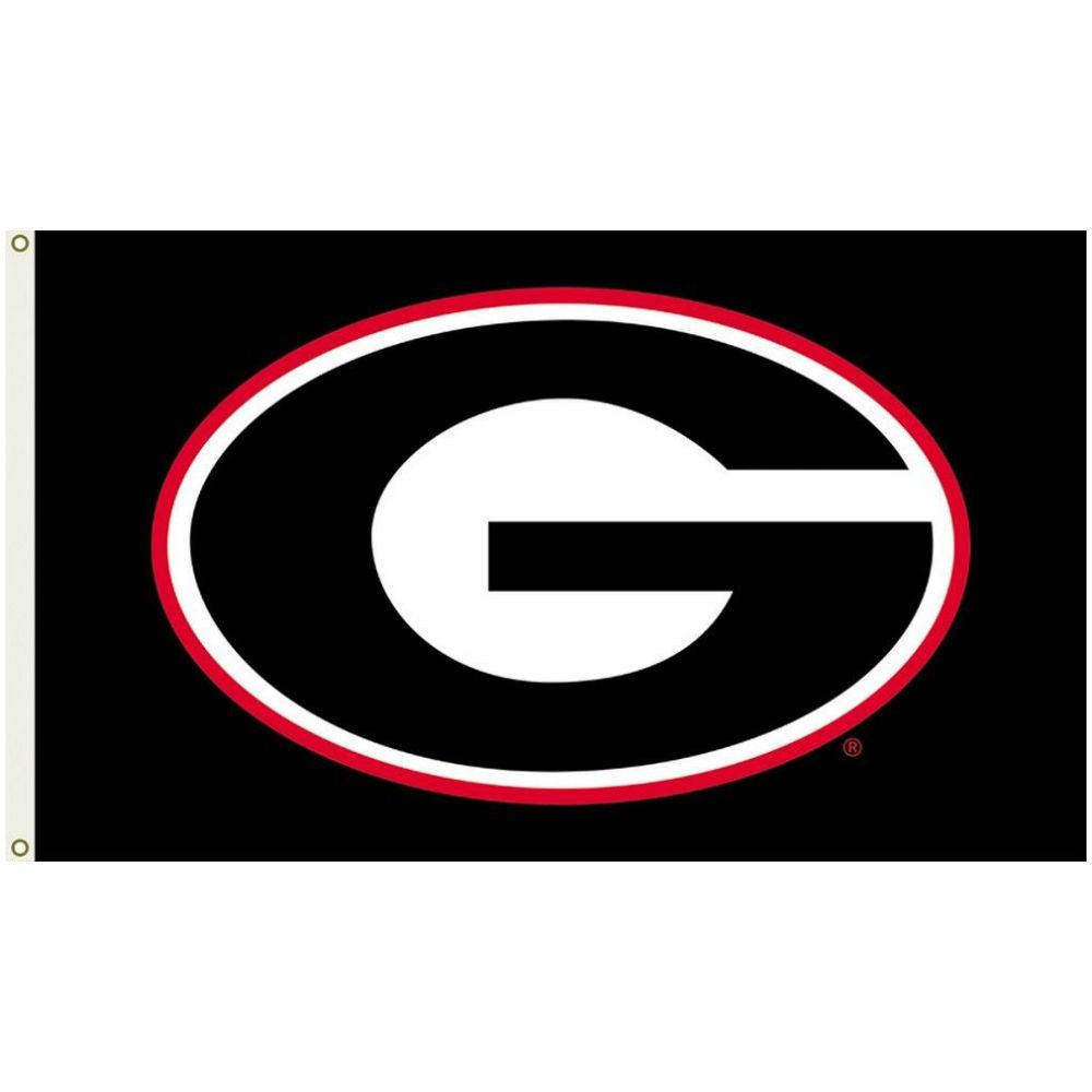 Georgia Bulldogs UGA Super G 3' x 5' Deluxe Black Flag