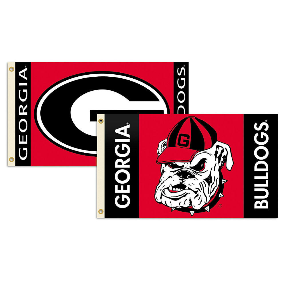 Georgia Bulldogs UGA 2 Sided 3' x 5' Deluxe Red Flag