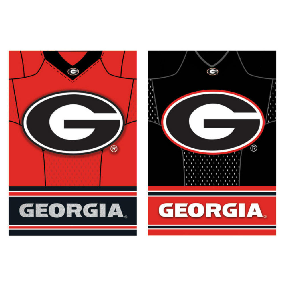 Georgia Bulldogs UGA Two Sided Jersey House Flag