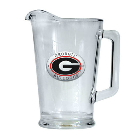 Georgia Bulldogs UGA Glass Pitcher 60 oz