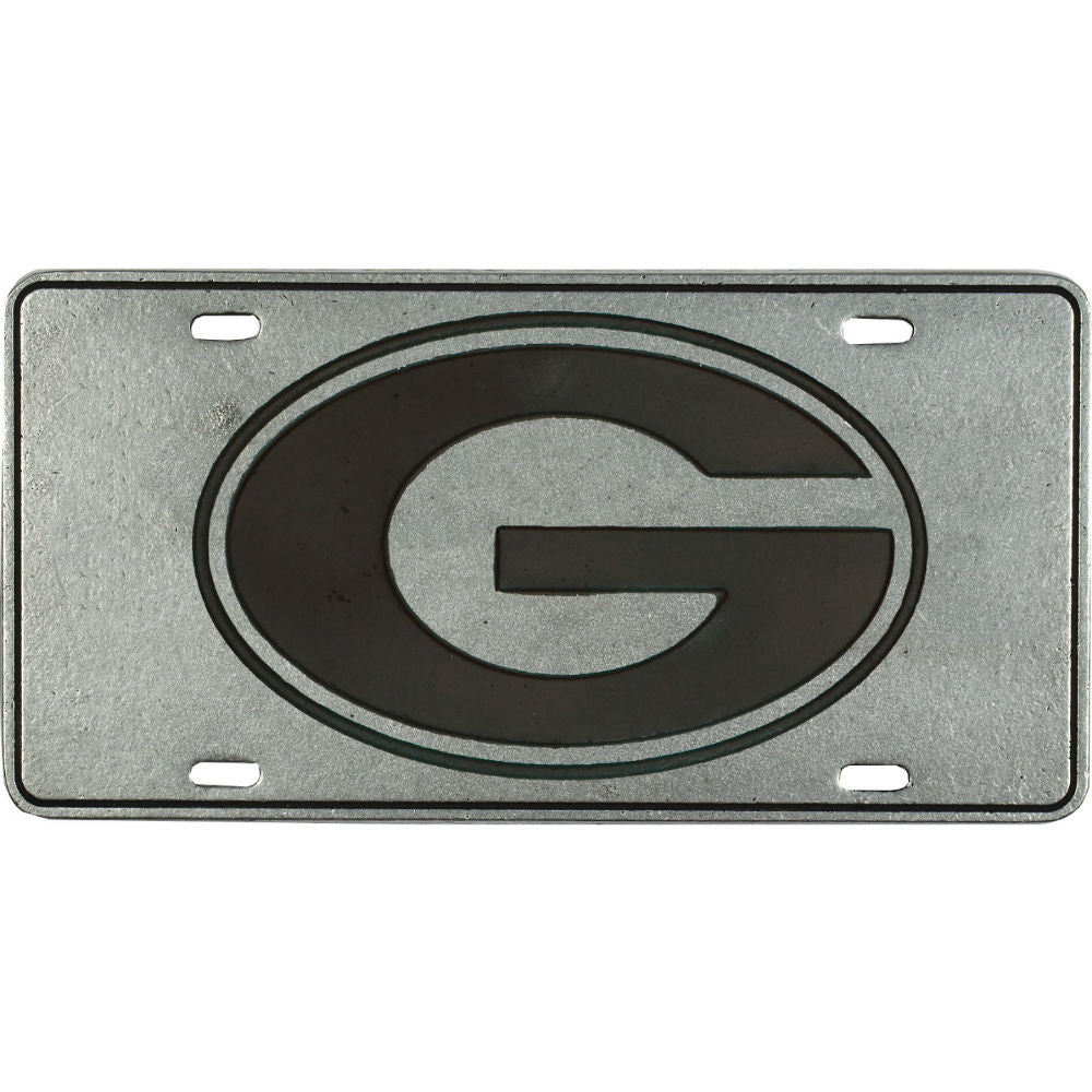 Georgia Bulldogs UGA Pewter License Plate