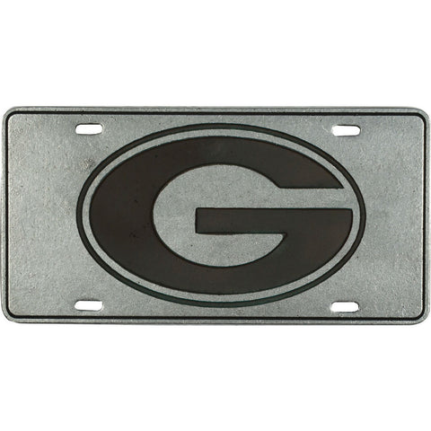 UGA Tag Super G Pewter License Plate