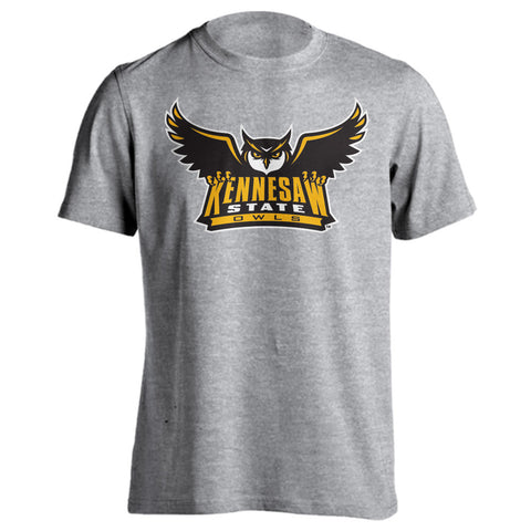 Kennesaw State University Owls KSU Scrappy Grey T-Shirt Multiple Sizes