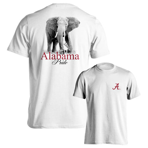 Alabama Crimson Tide Alabama Pride Adult White Short Sleeve T-Shirt