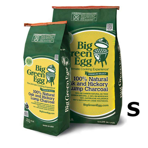 BGE Big Green Egg Premium Made in the USA 100% Natural Oak and Hickory Lump Charcoal 10lb