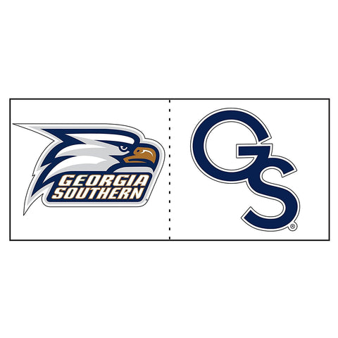 "Georgia Southern Eagles GSU Eagle Head GS Logo Cals Decal 2"" 2 Pack"
