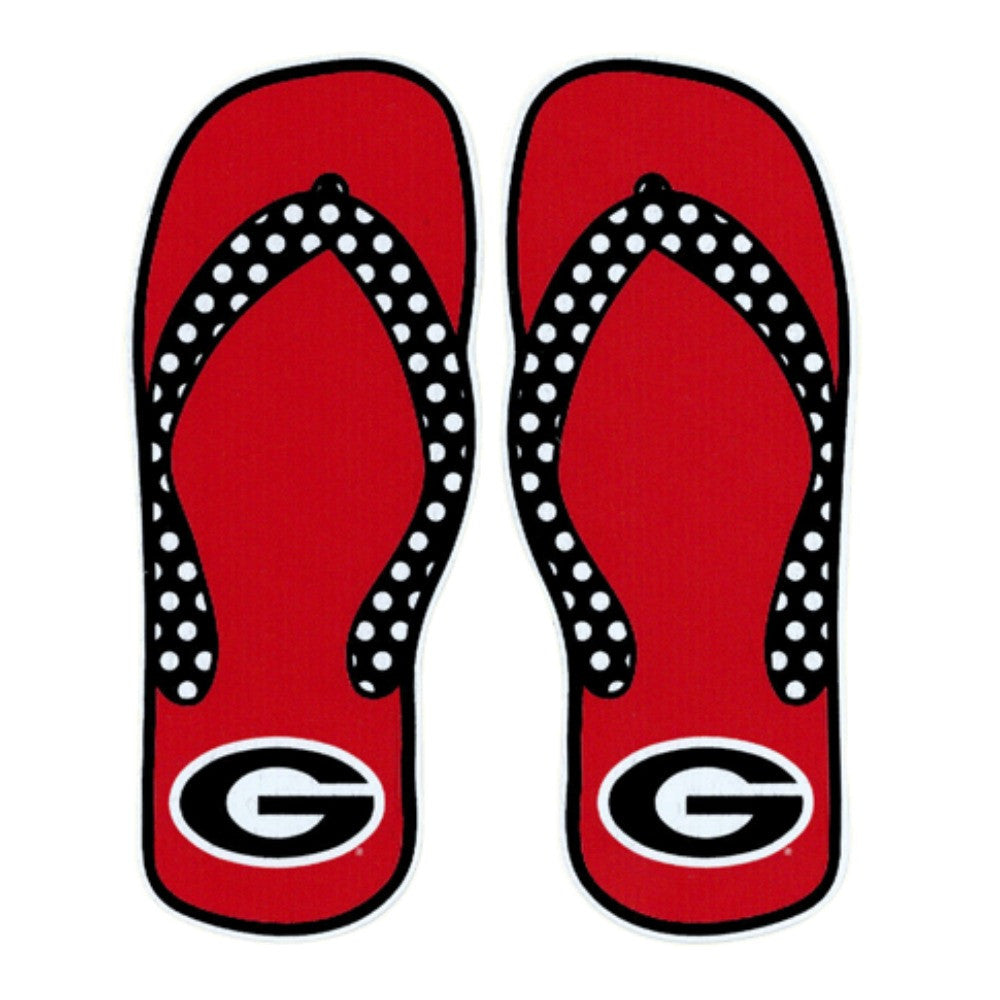 "UGA 6"" Flip Flop Decal"