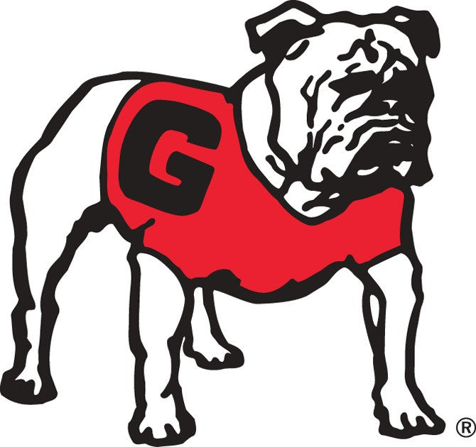 Georgia Bulldogs UGA Standing Bulldog Decal Sticker 12""