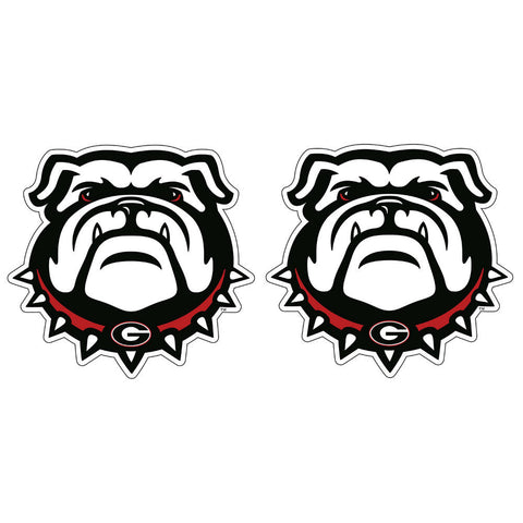 "Georgia Bulldogs 2"" UGA Dawg Logo Decal Sticker 2 Pack"