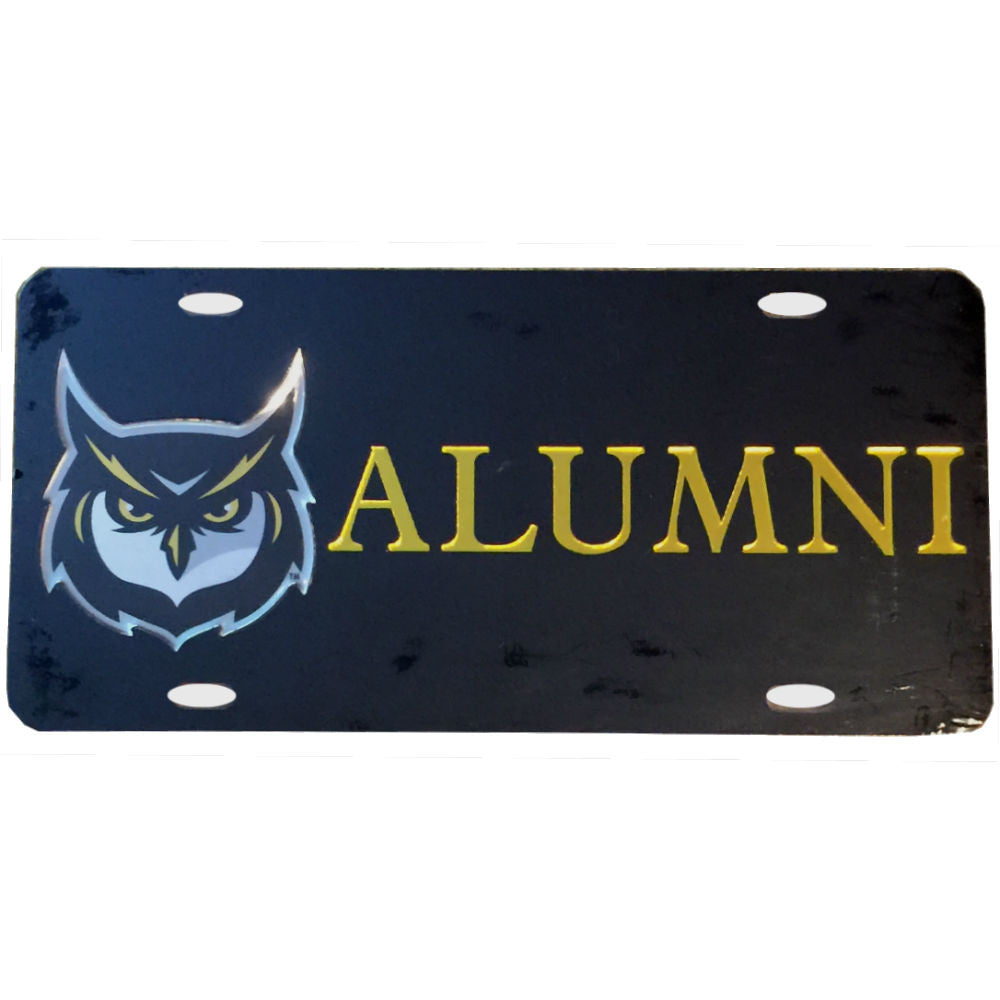 KSU Alumni Laser Cut Inlaid Mirror Black License Plate