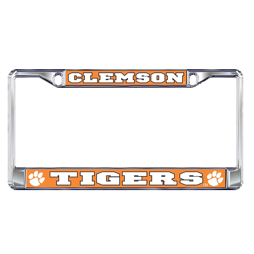 Clemson Tigers Paw Metal Domed License Plate Frame