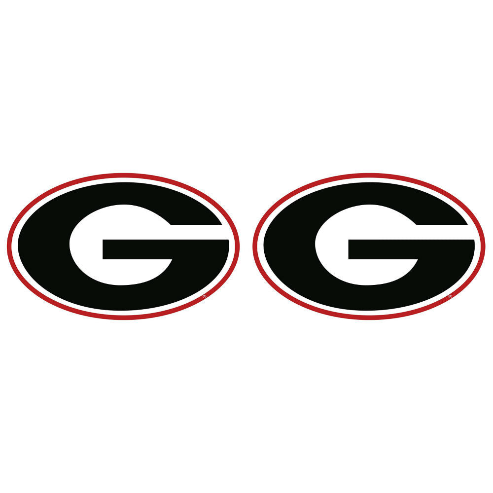 "Georgia Bulldogs 2"" UGA Super G Decal Sticker 2 Pack"