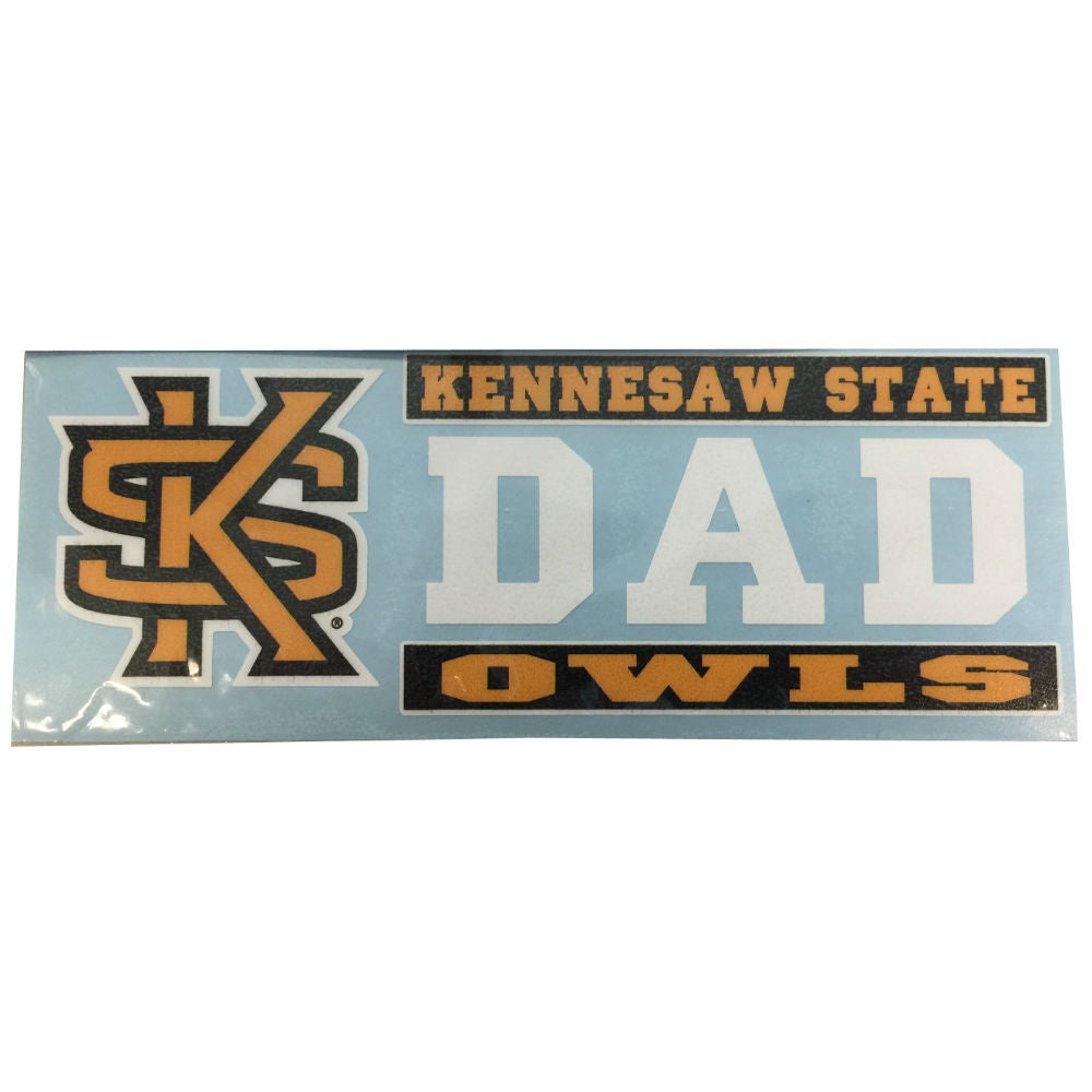 Kennesaw State Owls KSU Dad Decal Sticker 6""