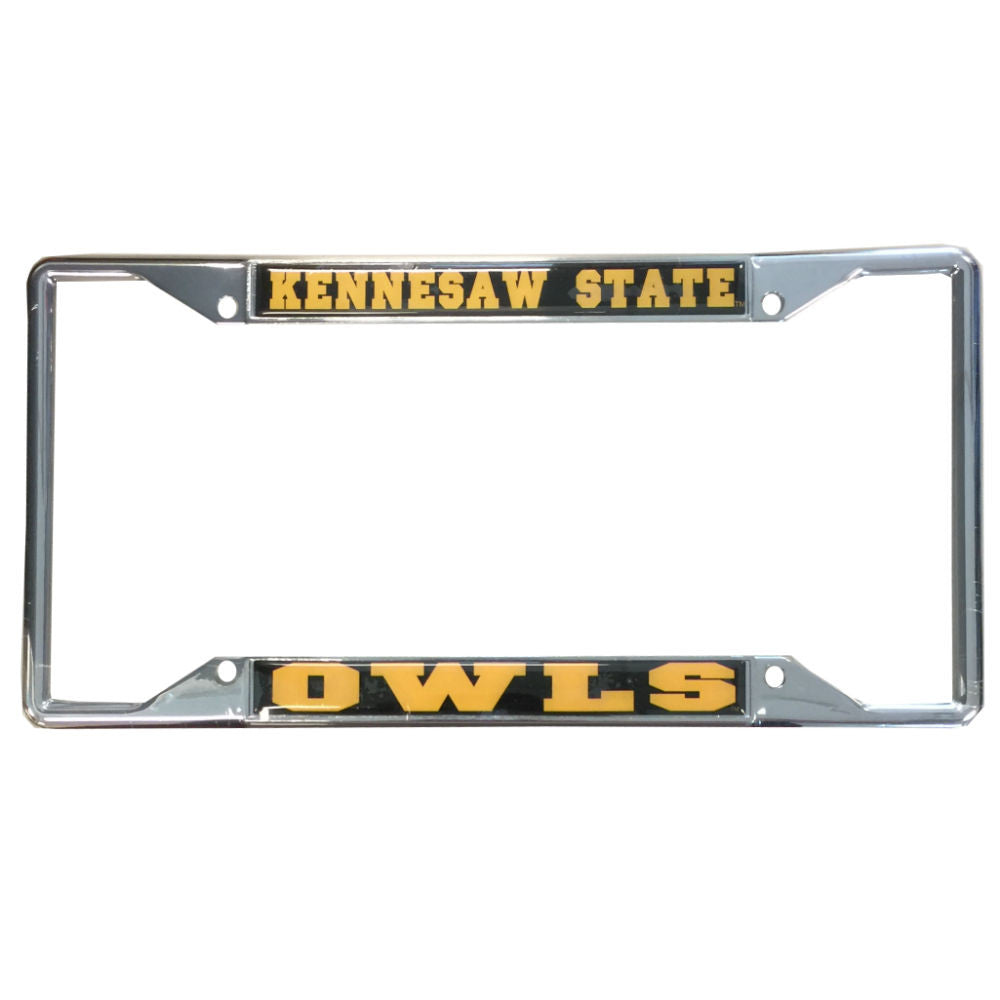 Kennesaw State Owls Metal Domed License Plate Frame