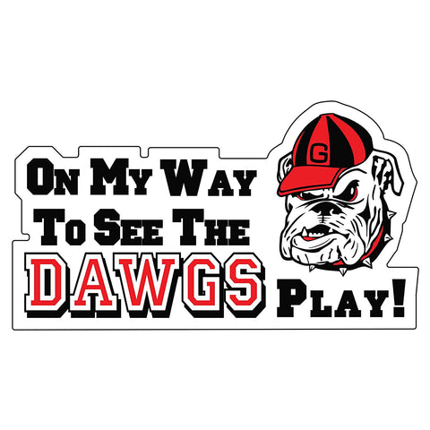 Georgia Bulldogs UGA On My Way To See The Dawgs Play! Magnet 15""